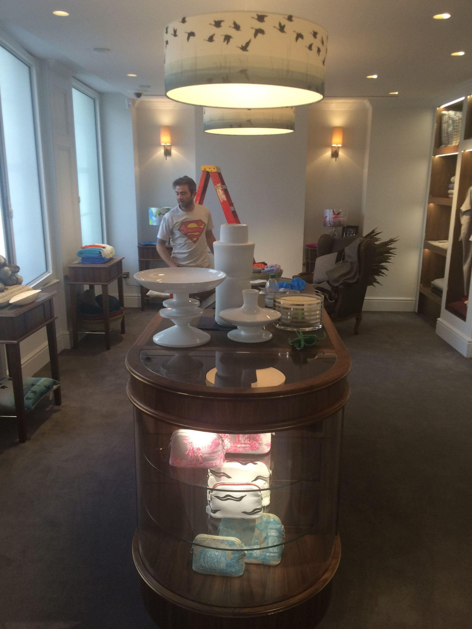 high-end shop fit out by painters and decorators in central london