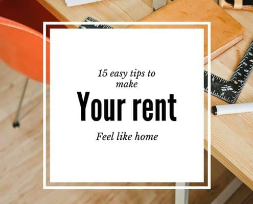 15 decorating tips for people renting their home 1