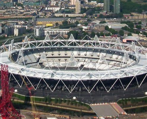 painting the olypic stadium