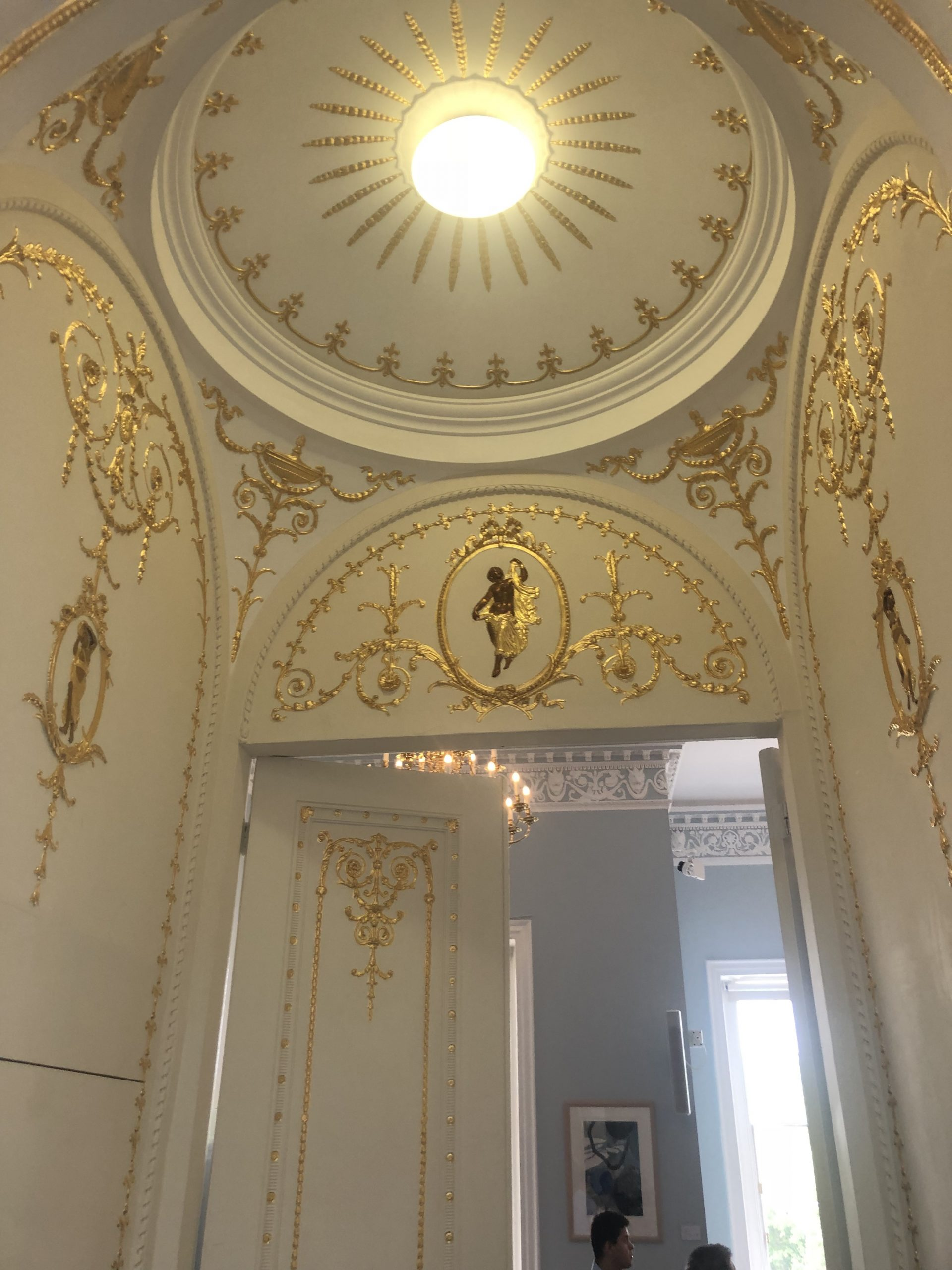 historic gold leaf paint application in London